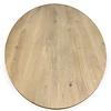 Eiken tafelblad ovaal - 4 cm dik (1-laag) - Diverse afmetingen - Rustiek Europees eikenhout - verlijmd kd 10-12%