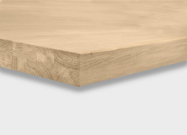 Eiken tafelblad 5 cm dik (opgedikt)