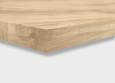 Eiken tafelblad 6 cm dik (opgedikt)