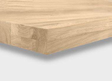 Eiken tafelblad 8 cm dik (opgedikt)