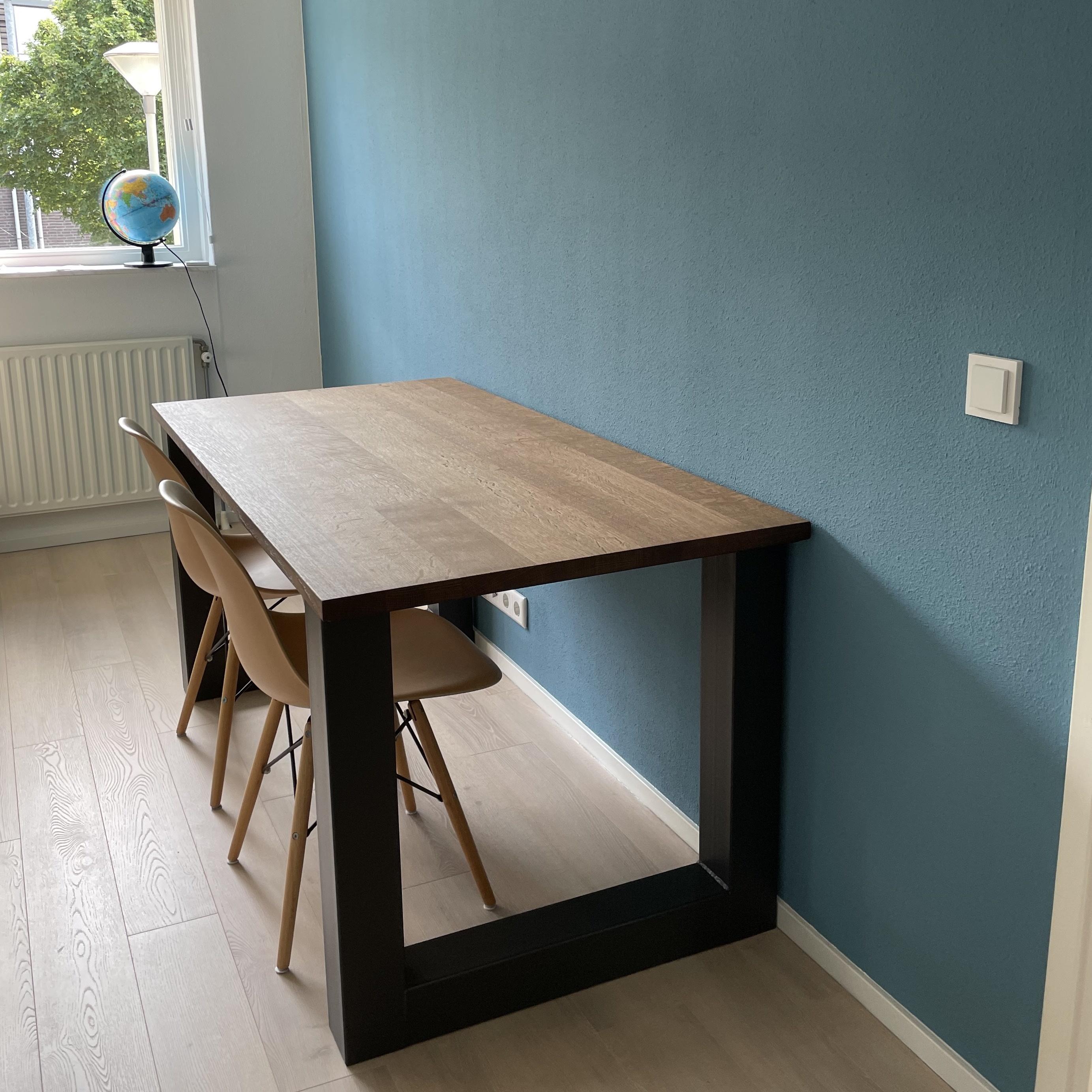 Eiken tafelblad op maat - 3 cm dik (1-laag) - foutvrij Europees eikenhout - verlijmd kd 8-12% - 50-120x50-350 cm