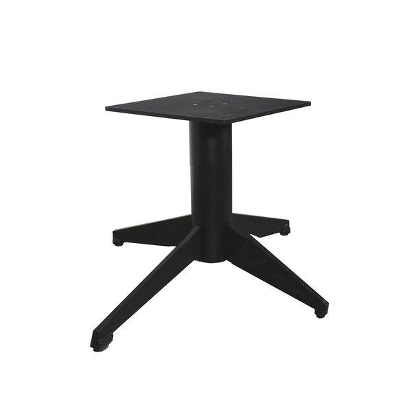 Stalen salontafel onderstel viervoet - 60x90 cm - 38 cm hoog - 40x40 cm montageplaat - ZWART