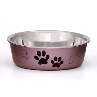 Loving Pets Bella Bowl - Metallic Grape