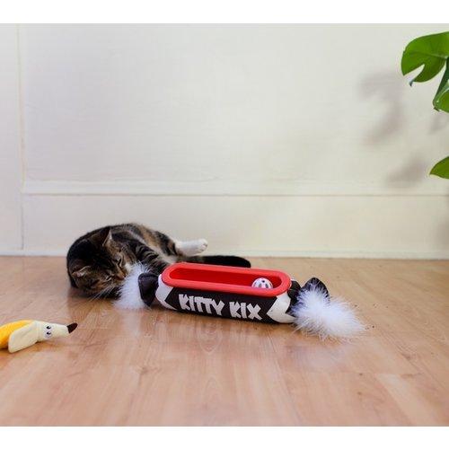 Petstages Kitty Roll Kicker Track Brn