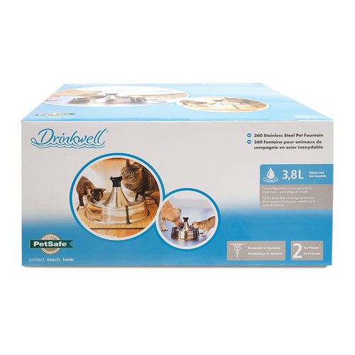 Drinkwell Drinkwell® 360 Stainless Steel Pet Fountain - 3.8 L