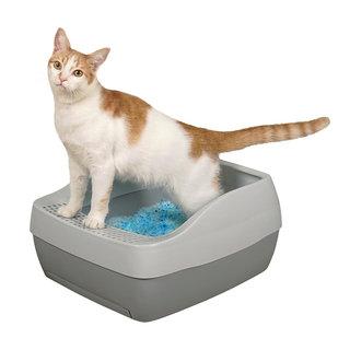 PetSafe® Deluxe Katzentoilette mit Kristall- Katzenstreu