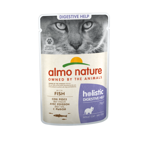 Almo Nature Almo Nature Kat Holistic Natvoer - Digestive Help - Pouch - 30 x 70g