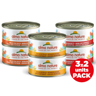 Almo Nature Cat Wet Food - Multi Pack - 6 x 70g