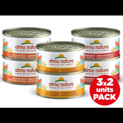 Almo Nature Almo Nature Katze Nassfutter - Multi Pack - 6 x 70g