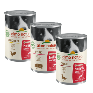 Almo Nature Dog Holistic Wet Food - Single Protein - 24 x 400g