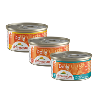 Almo Nature Cat Daily Menu Wet Food - Mousse 24 x 85g