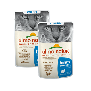 Almo Nature Katze Holistic Nassfutter - Sterilised - Pouch - 30 x 70g