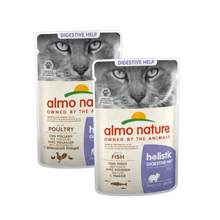 Almo Nature Cat Holistic Wet Food - Digestive Help -  Pouch - 30 x 70g