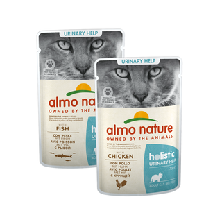 Almo Nature Kat Holistic Natvoer - Urinary Help - Pouch - 30 x 70g