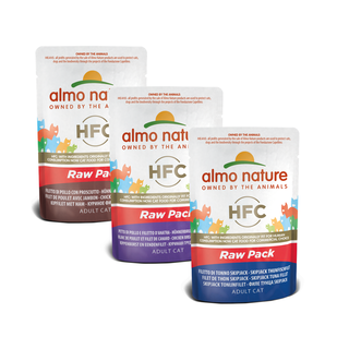 Almo Nature Katze HFC Nassfutter - Raw Pack- 24 x 55g