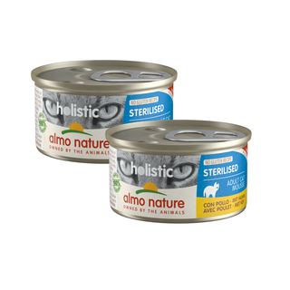 Almo Nature Kat Holistic Natvoer - Sterilised -  Blik - 24 x 85g