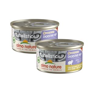 Almo Nature Kat Holistic Natvoer - Digestive Help - Blik - 24 x 85g