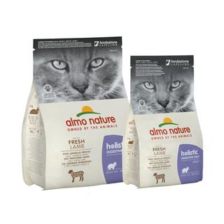 Almo Nature Katze Holistic Trockenfutter - Digestive Help - Lam