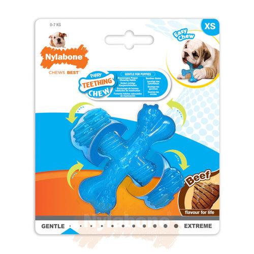 Nylabone Nylabone Puppy Teething X Bone Beef Small