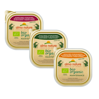 Almo Nature Dog Bio Organic Wet Food - Maintenance - 9 x 300g