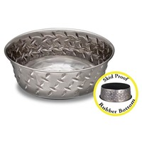 Loving Pets Loving Pets Diamond Plate Bowl with anti-skid bottom