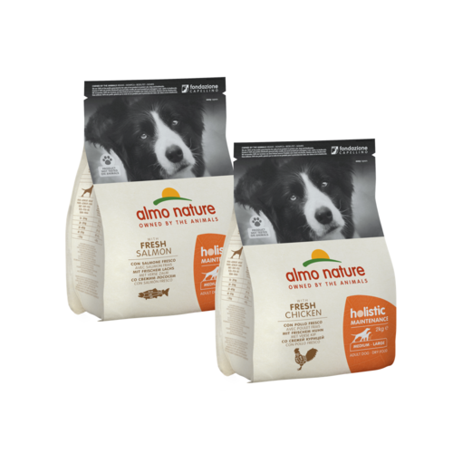 Almo Nature Almo Nature Hond Holistic Dry Food for Medium  &  Large Breed Dogs - Maintenance - M/L