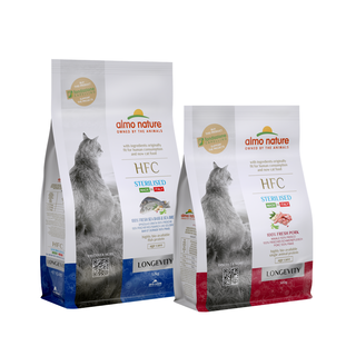 Almo Nature Katze HFC Trockenfutter - Longevity - Sterilised
