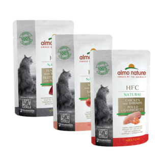 Almo Nature Cat HFC Wet Food - Natural - Pouch  24 x 55g