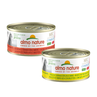 Almo Nature Cat HFC Wet Food - Complete - Made in Italy - 24 x 70g