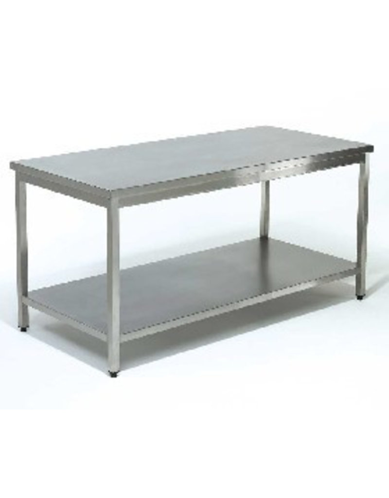 Sea Biscuit Working table with 1 Bottom Shelf from 700 to 2000mm x 700x850mm