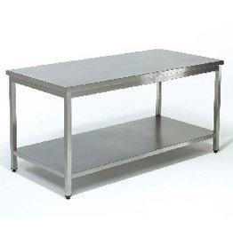 Sea Biscuit Werktafel met onderblad  700 / 2000mm x 600x850mm