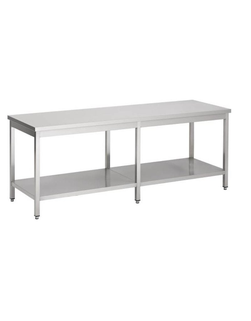 Sea Biscuit Working table with 1 Bottom Shelf  2000 / 2900mm x 600x850mm