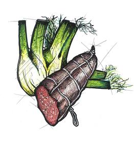 Rindfleischwurst mit Fenchelsamen, 300 g