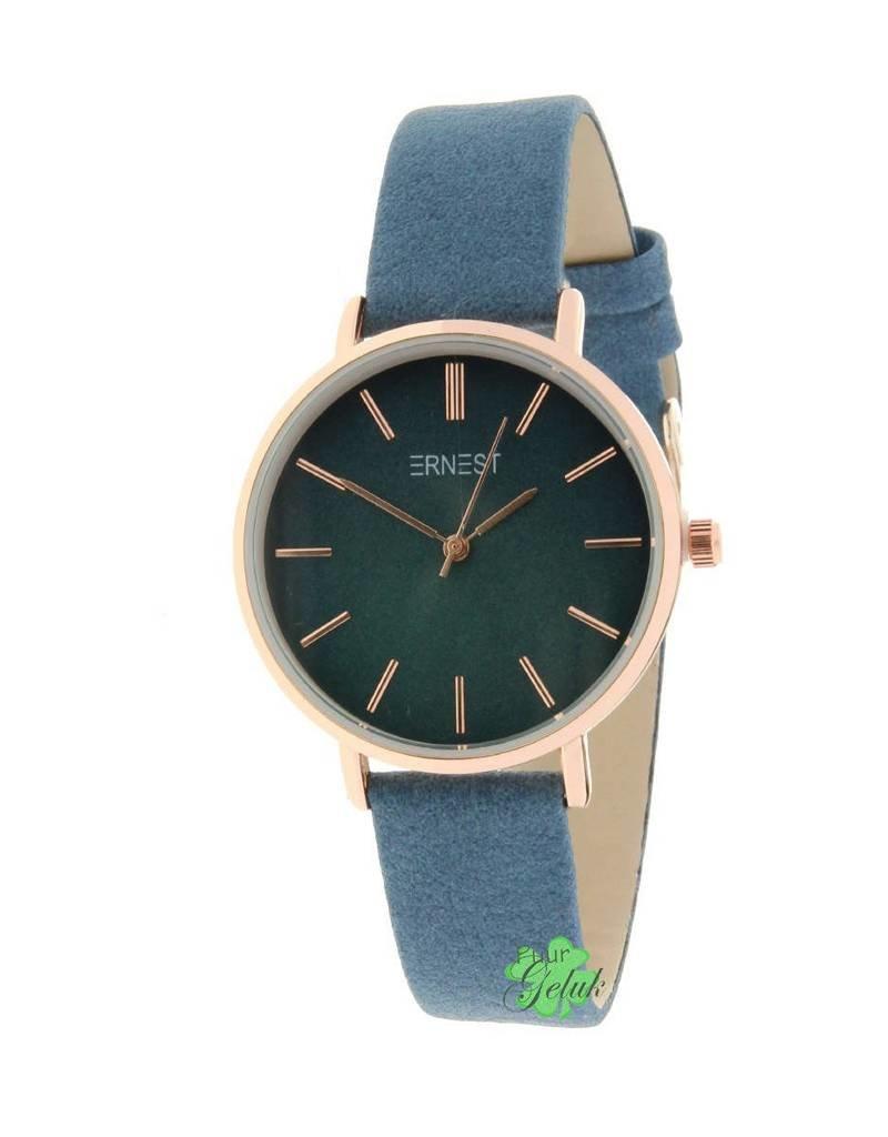Ernest Ernest horloge rose-Cindy-Medium FW18, blauw