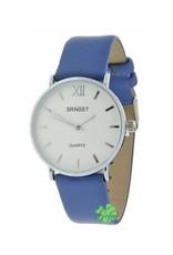 """Ernest Ernest horloge """"Zurich"""" blauw"""