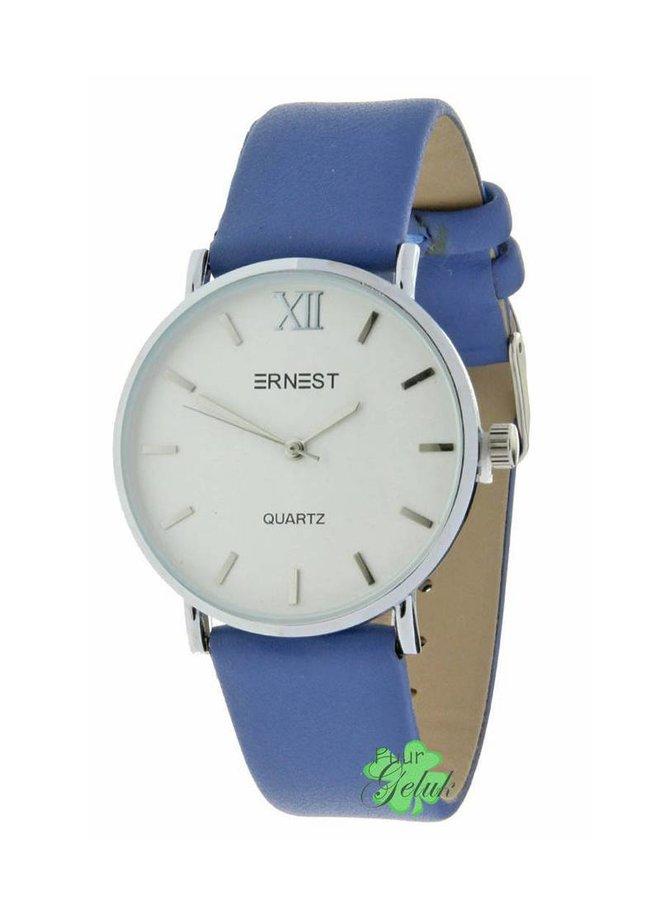 """Ernest horloge """"Zurich"""" blauw"""