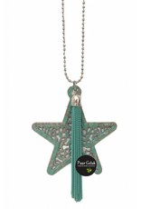 Overige Ketting met ster, turquoise