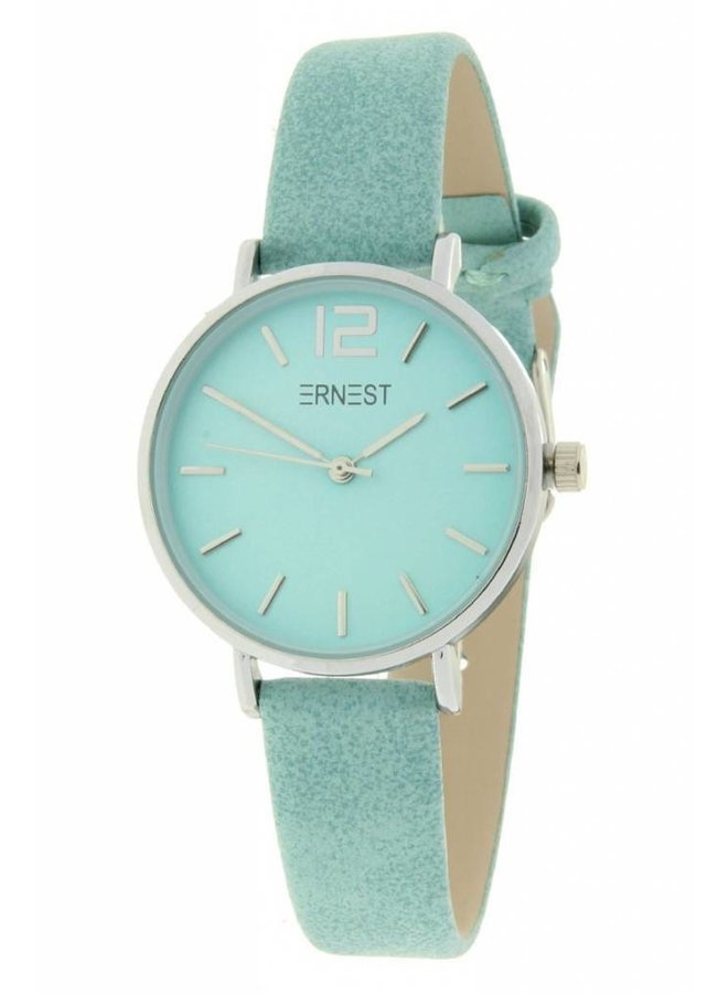 Ernest horloge Silver-Cindy-Mini SS-19, turquoise