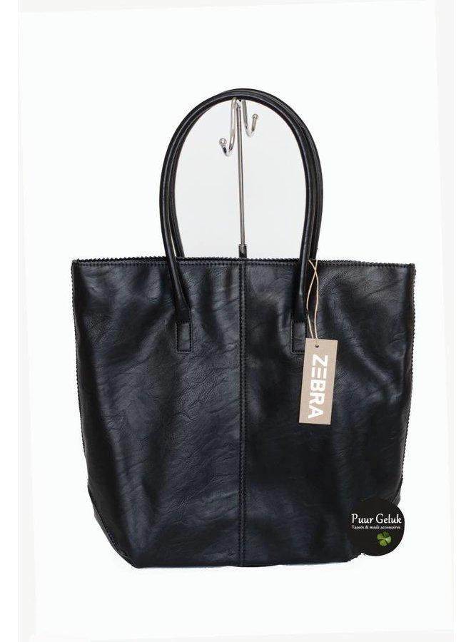 Zebra Trends shopper met etui, zwart