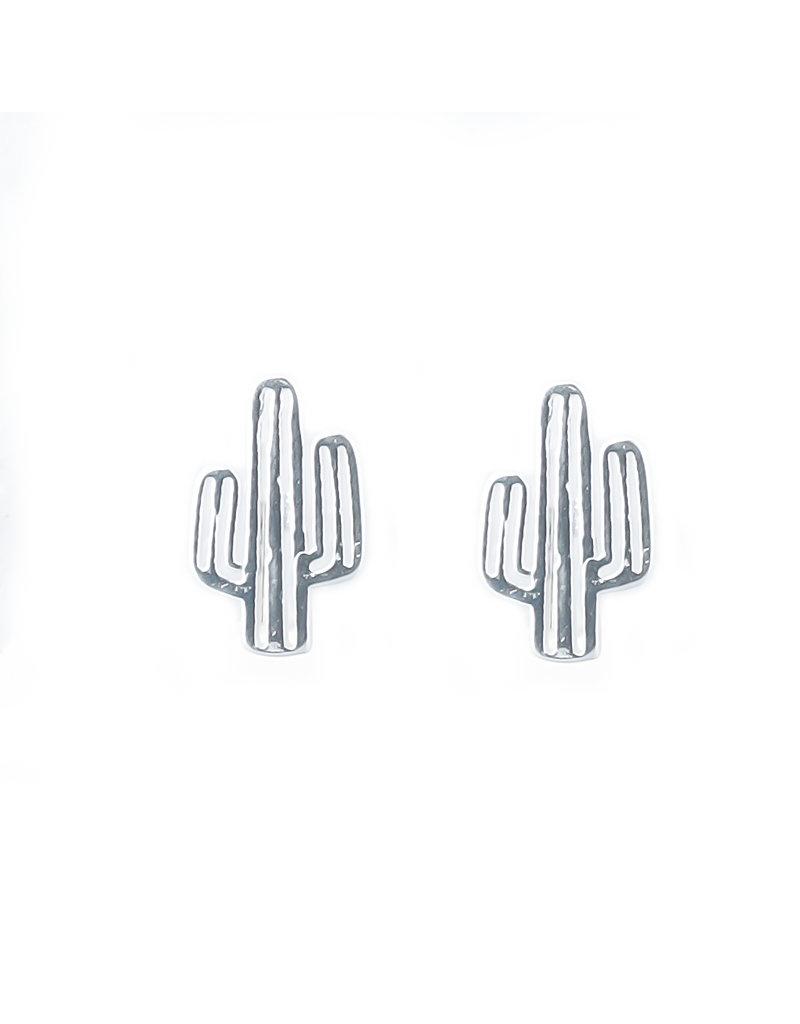 Overige Zilveren oorbellen Cactus