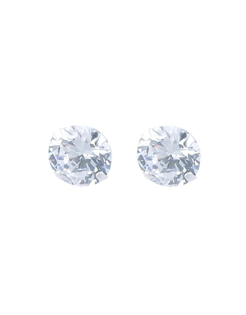 Overige Zilveren oorbellen strass steen L