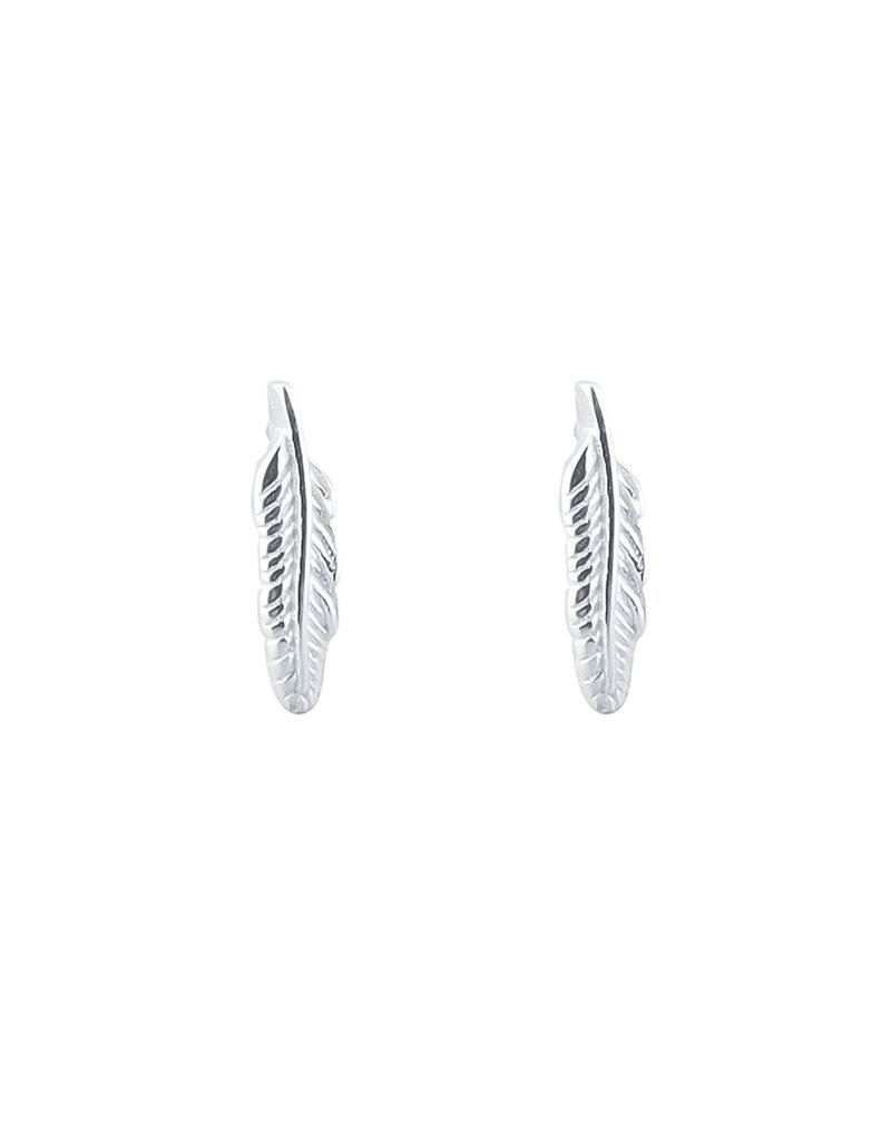 Overige Zilveren oorbellen veertje