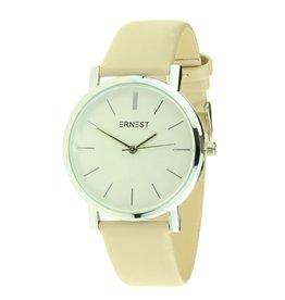 Ernest Ernest horloge silver-Andrea, beige