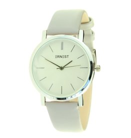 Ernest Dames horloge Ernest silver-Andrea, licht grijs