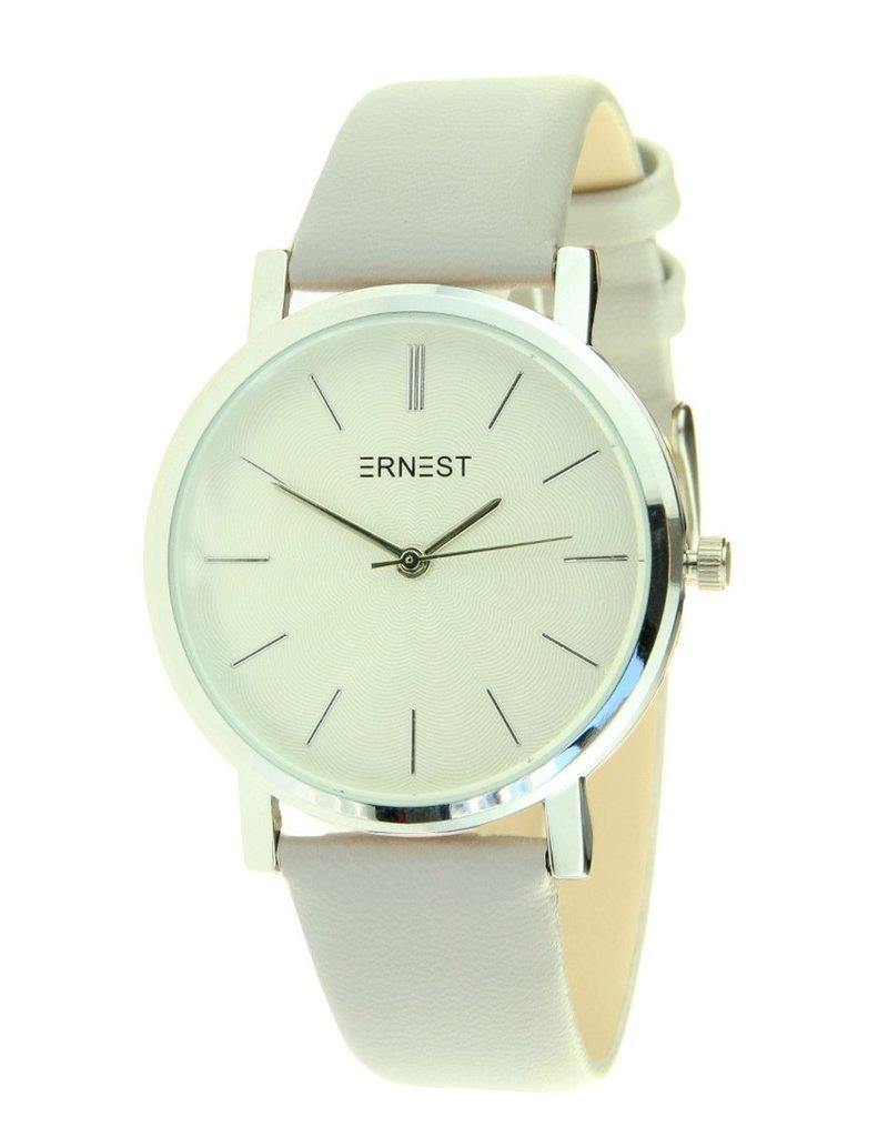 Ernest Ernest horloge silver-Andrea 905,  licht grijs