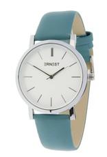 Ernest Ernest horloge silver-Andrea 905,  fris blauw