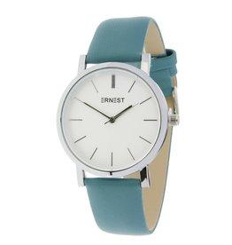 Ernest Ernest horloge silver-Andrea, fris blauw