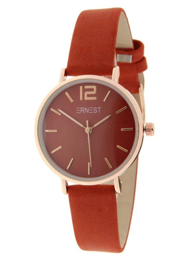 Ernest horloge rose-Cindy-Mini FW-18, brick