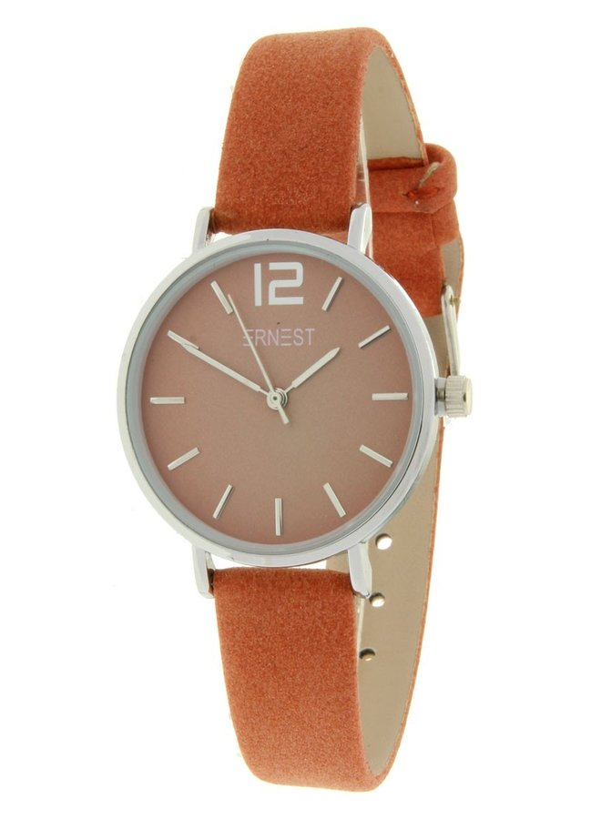 Ernest dames horloge Silver-Cindy-Mini, brick