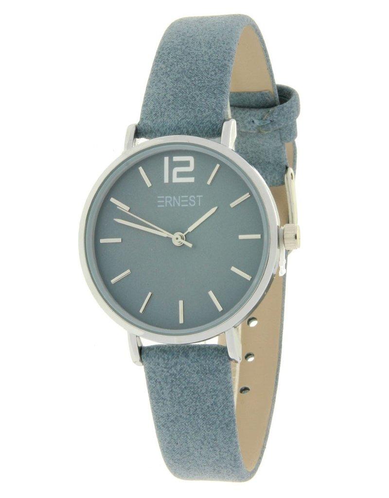 Ernest Ernest horloge Silver-Cindy-Mini, jeans blauw